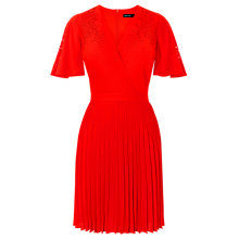 Buy Karen Millen Colourful Lasercut Dress, Red Online at johnlewis.com
