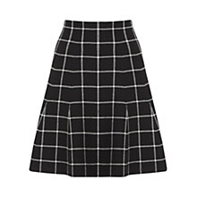 Buy Oasis Check Flippy Skirt, Black Online at johnlewis.com