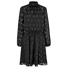 Buy Karen Millen Metallic Jacquard Party Dress, Black Online at johnlewis.com