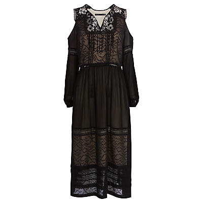 Karen Millen Bohemian Dress, Black