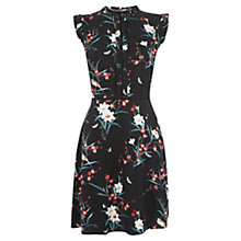 Buy Oasis Hannah Oriental Skater Dress, Multi Black Online at johnlewis.com
