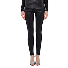 Buy Ted Baker Renna Scallop Jeans, Black Online at johnlewis.com