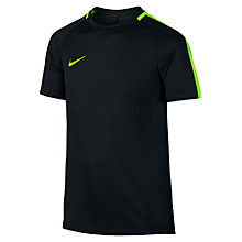 Buy Nike Children's Dry Academy Football Shirt, Black/Green Online at johnlewis.com