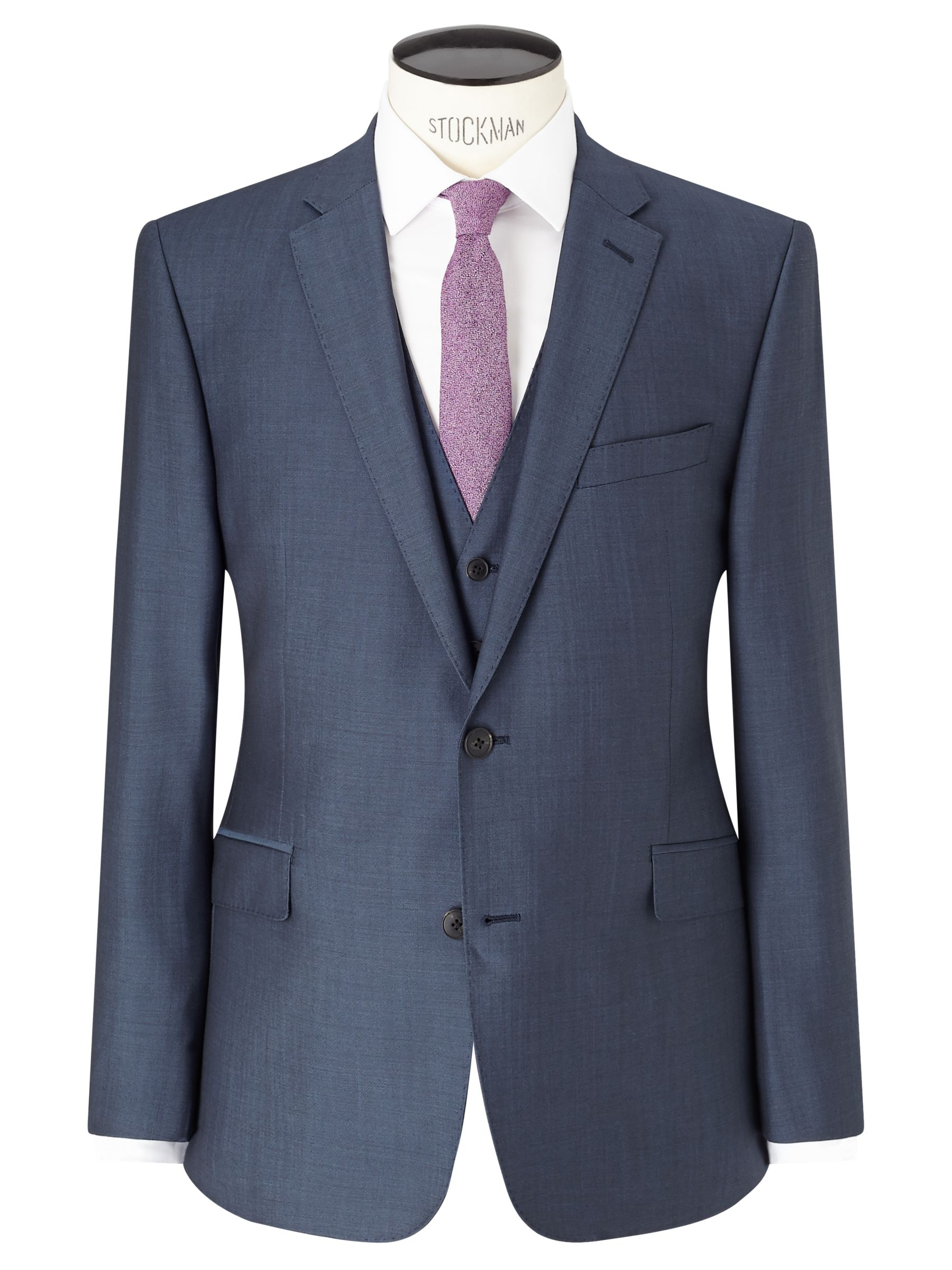 Richard James Mayfair Richard James Mayfair Wool Mohair Slim Fit Suit Jacket, Blue Steel
