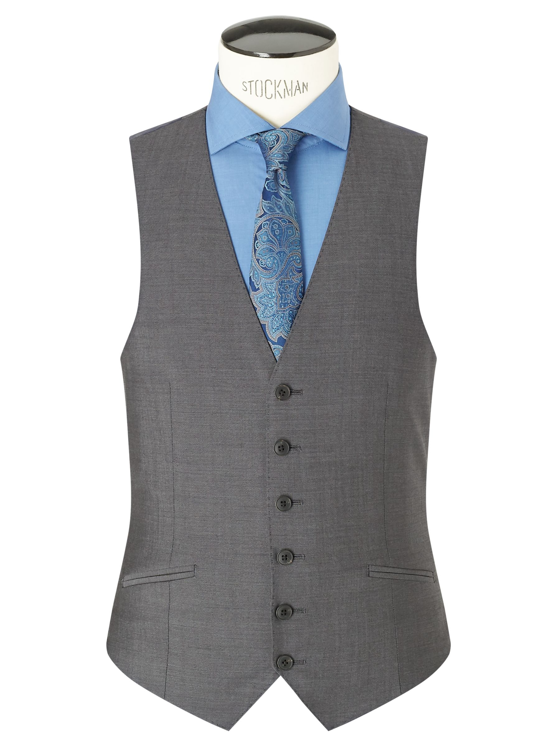 Richard James Mayfair Richard James Mayfair Tonic Sheen Slim Waistcoat, Charcoal