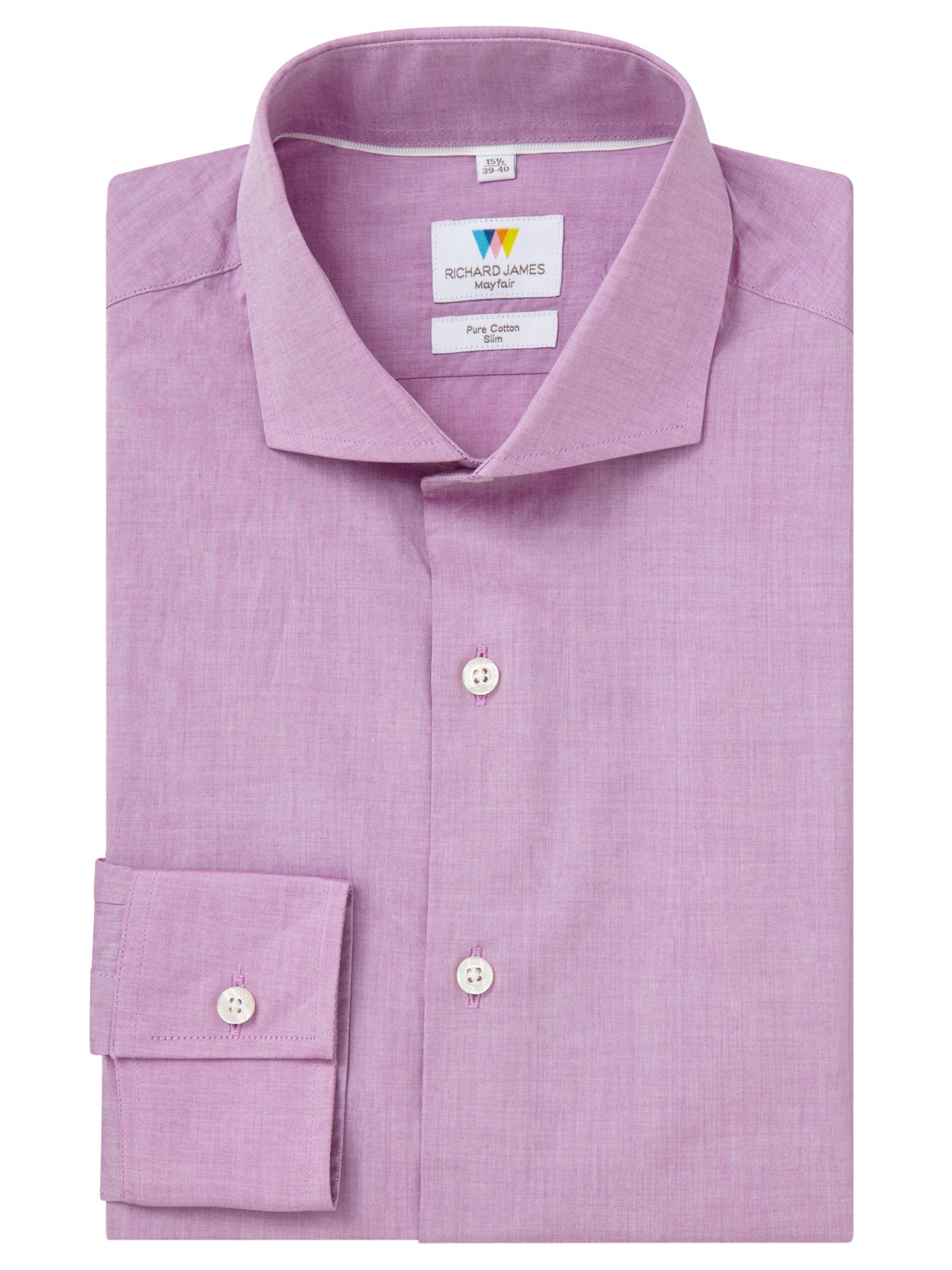Richard James Mayfair Richard James Mayfair Chambray Slim Fit Shirt