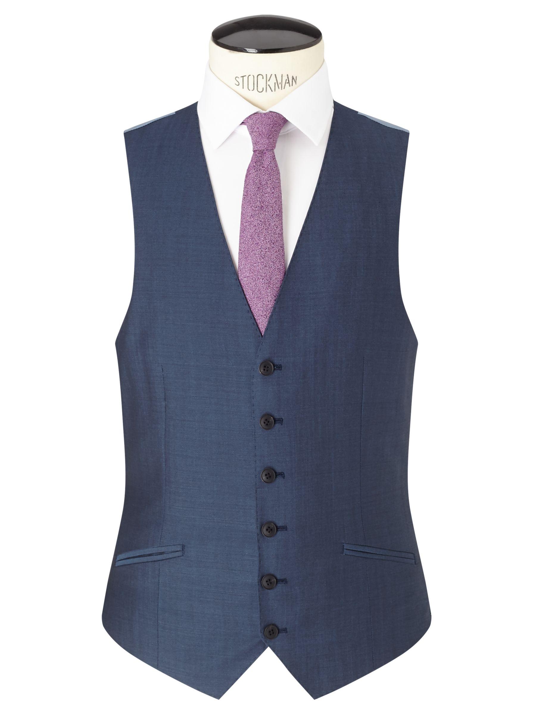 Richard James Mayfair Richard James Mayfair Wool Mohair Slim Fit Waistcoat, Blue Steel