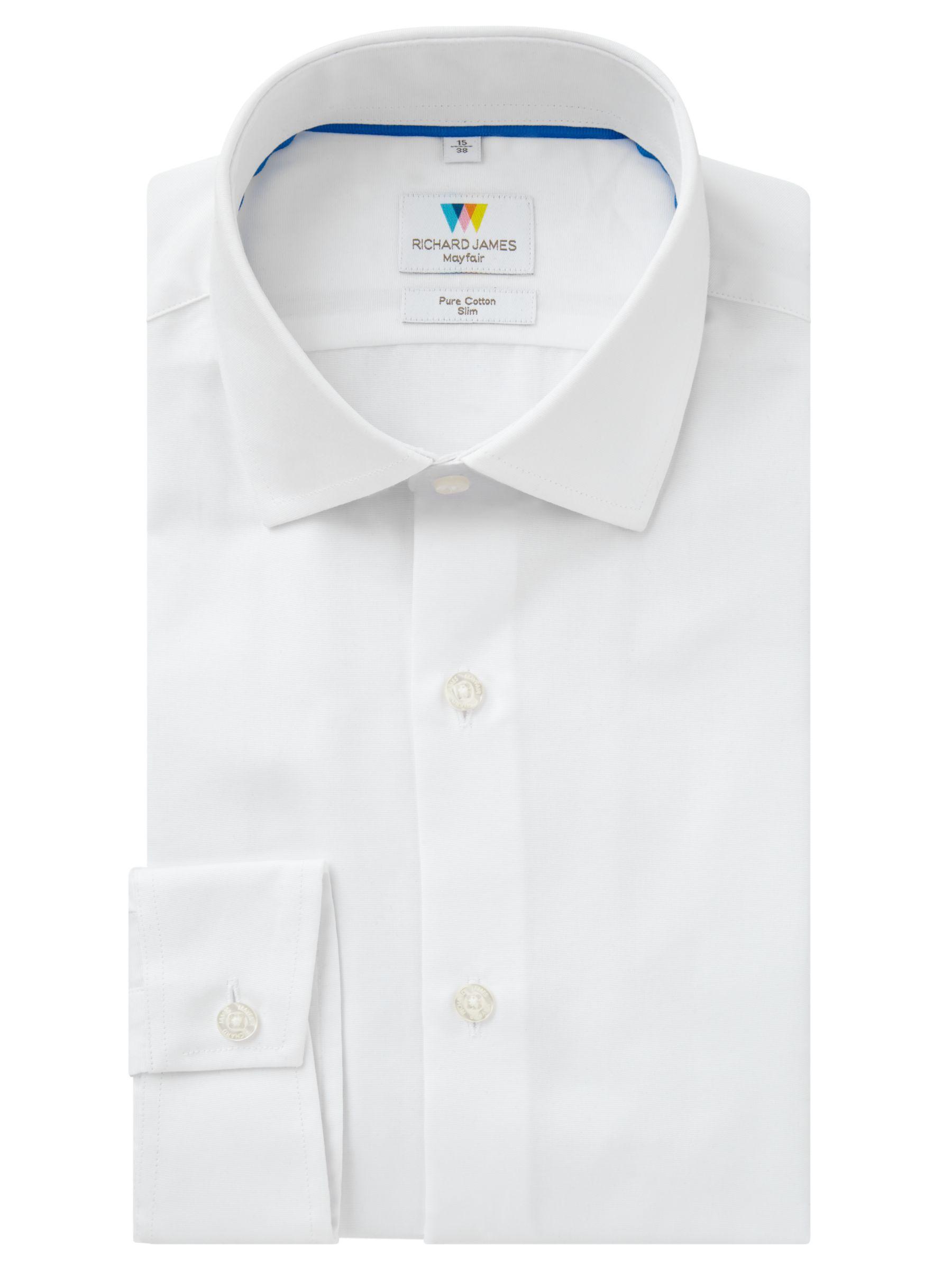 Richard James Mayfair Richard James Mayfair Ottoman Slim Fit Shirt, White