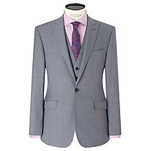Buy Richard James Mayfair Wool Sharkskin Slim Fit Suit Jacket, Slate Online at johnlewis.com