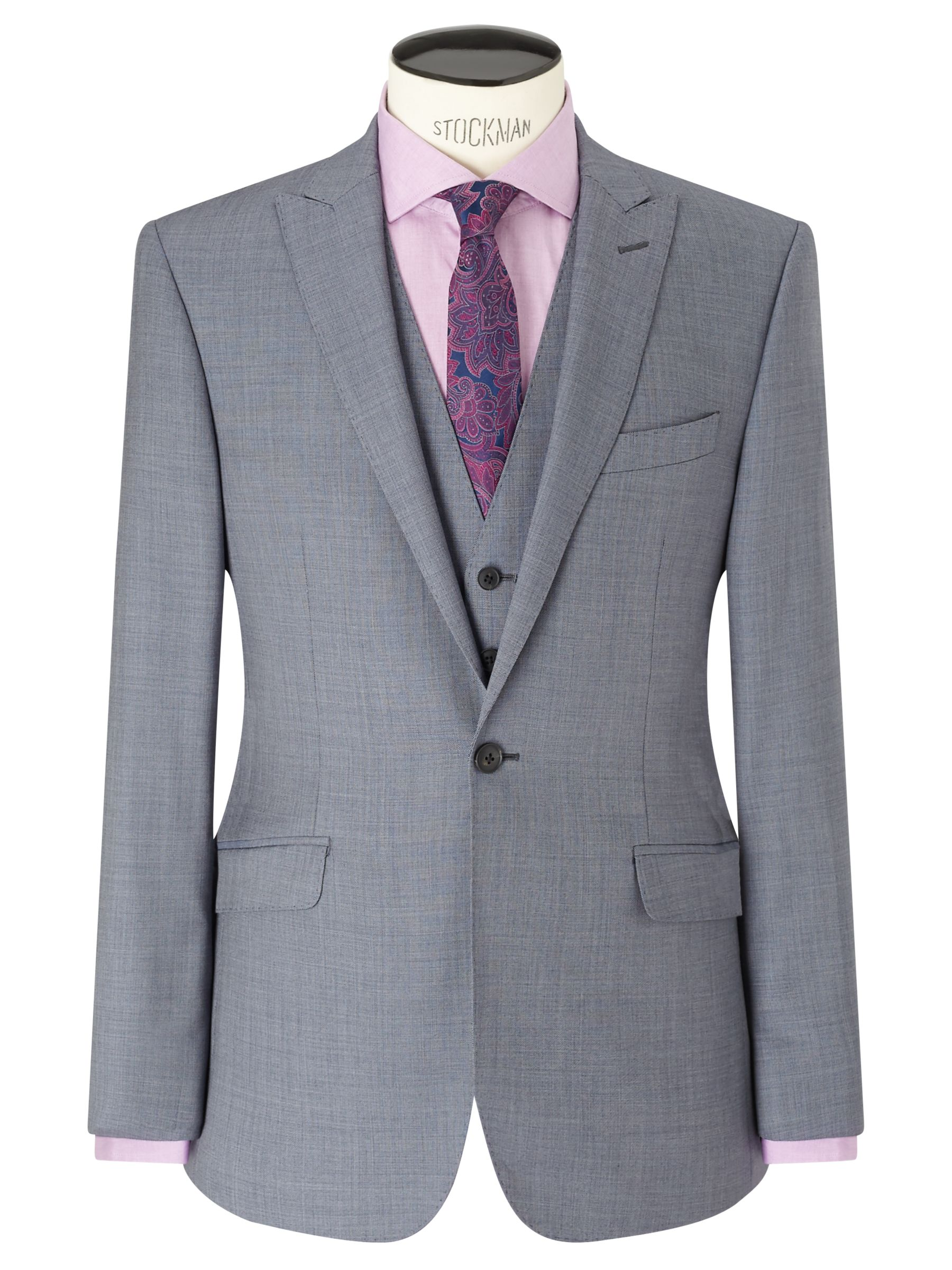 Richard James Mayfair Richard James Mayfair Wool Sharkskin Slim Fit Suit Jacket, Slate