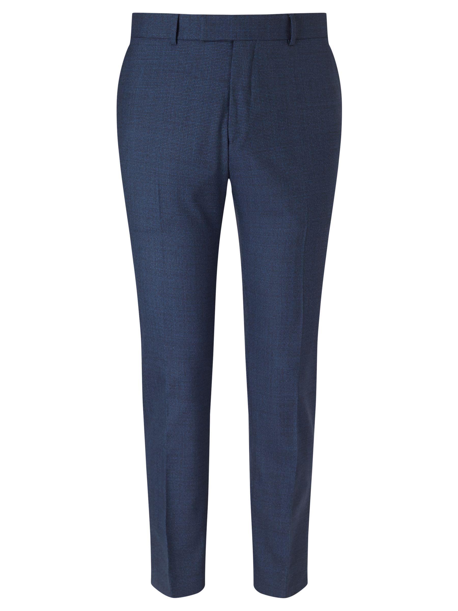 Richard James Mayfair Richard James Mayfair Puppytooth Slim Suit Trousers, Blue