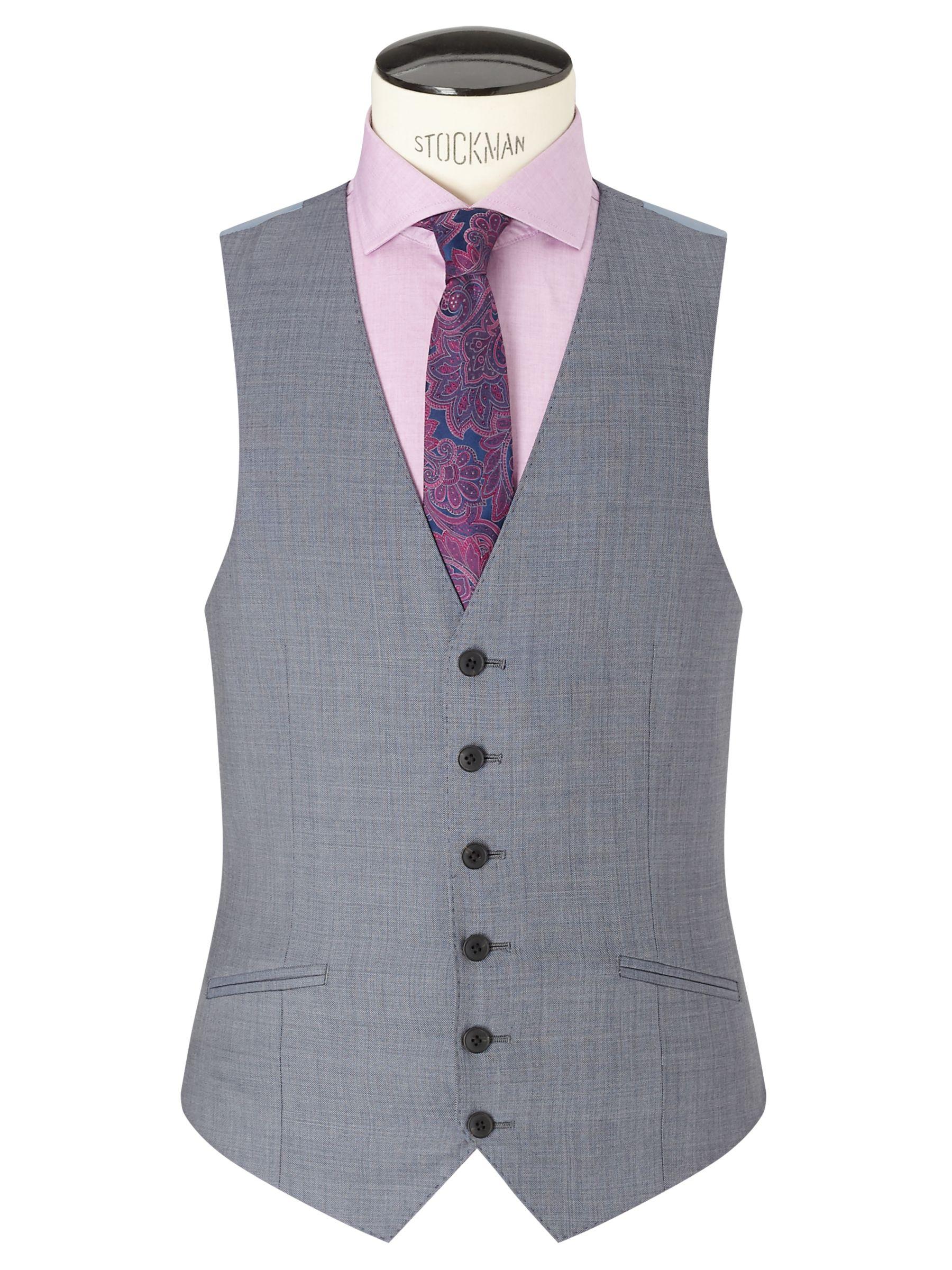 Richard James Mayfair Richard James Mayfair Wool Sharkskin Slim Fit Waistcoat, Slate