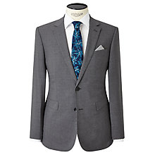 Buy John Lewis Textured Super 100s Wool Travel Suit Jacket, Light Grey Online at johnlewis.com