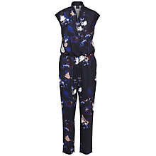 Buy Selected Femme Jamie Printed Jumpsuit, Dark Sapphire Online at johnlewis.com