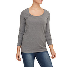 Buy Mamalicious Lea Organic Long Sleeve Nursing Top, Pack of 2, Black/Grey Online at johnlewis.com