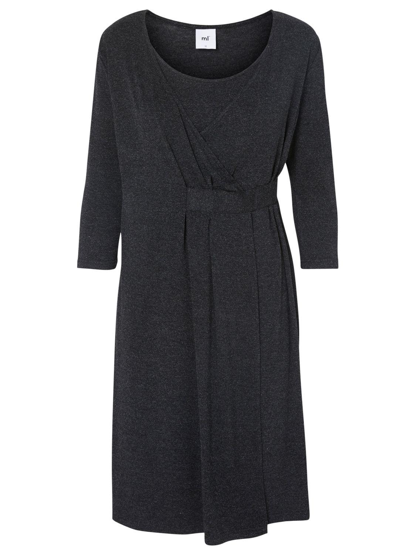 Mamalicious Mamalicious Adala Tess 3/4 Jersey Maternity Dress, Grey Melange