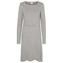 Buy Mamalicious Alexandra June Maternity Nursing Knit Dress, Grey Melange Online at johnlewis.com
