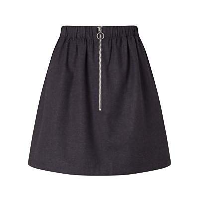 Minimum Axelia Front Zip Skirt, Grey