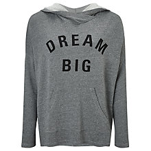 Buy Sundry Dream Big Hoodie, Heather Grey Online at johnlewis.com