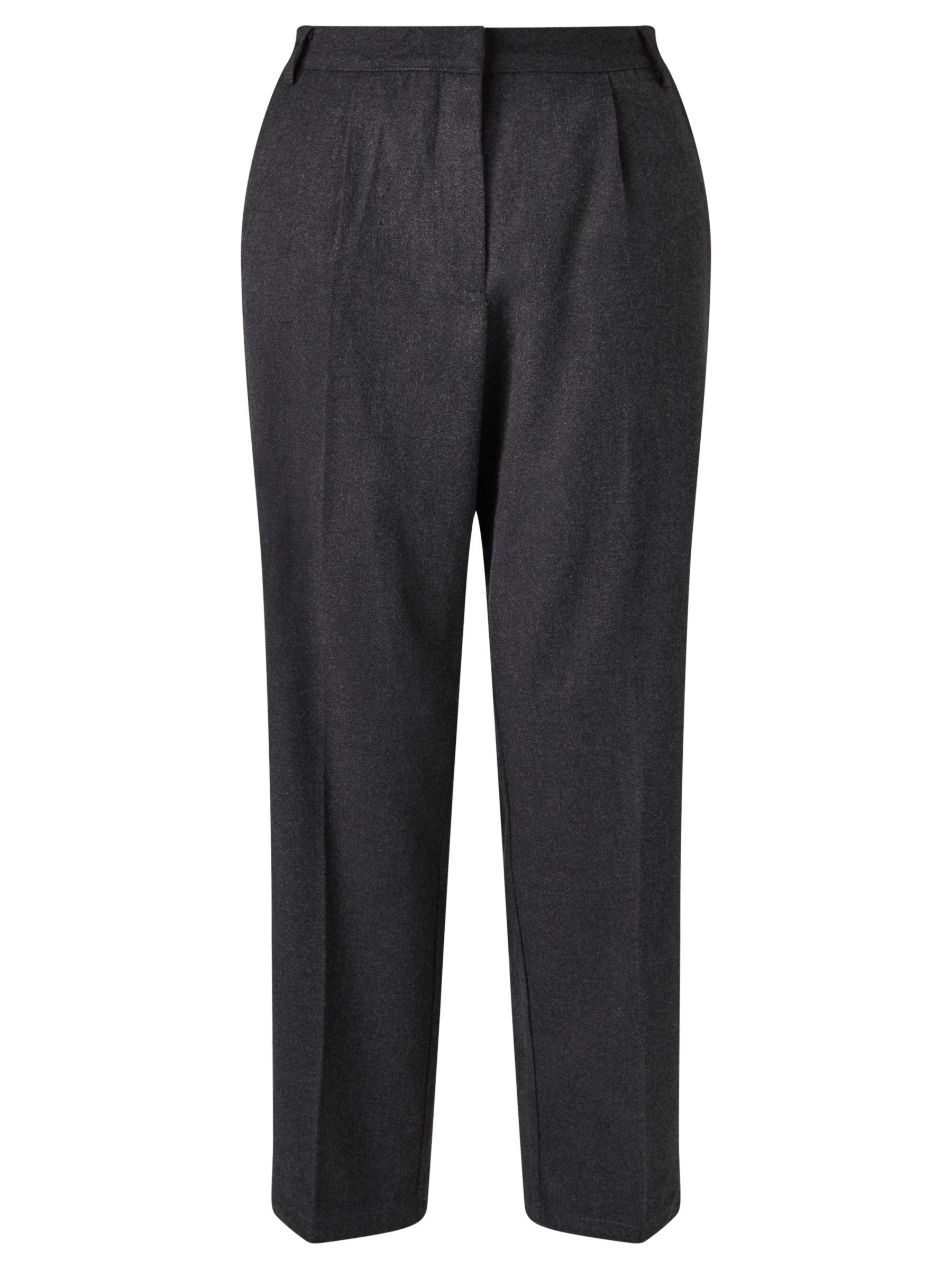 Minimum Minimum Birgitta Cropped Trousers, Grey