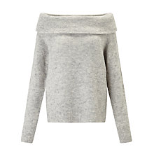 Buy Minimum Ninette Off Shoulder Jumper, Bone Online at johnlewis.com