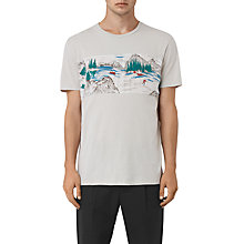 Buy AllSaints Canada Twelve Short Sleeve T-Shirt, Ash Grey Online at johnlewis.com