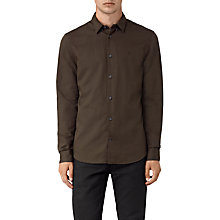 Buy AllSaints Hermosa Shirt, Umber Online at johnlewis.com