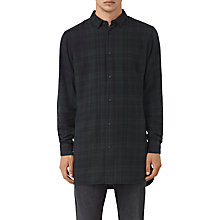 Buy AllSaints Downham Shirt, Dark Green Online at johnlewis.com