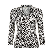 Buy Hobbs Aimee Top, Black/Ivory Online at johnlewis.com