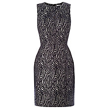 Buy Warehouse Zebra Pattern Metallic Dress, Black Online at johnlewis.com