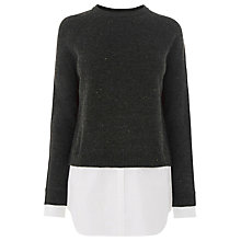 Buy Warehouse Neppy Mix Jumper, Dark Grey Online at johnlewis.com