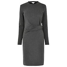 Buy Warehouse Side Rouche Detail Dress, Dark Grey Online at johnlewis.com