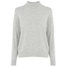 Buy Warehouse Pearlescent Jumper, Light Grey Online at johnlewis.com