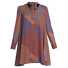 Buy Urban Touch Tie Neck Geometric Dress, Multi Online at johnlewis.com
