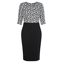 Buy Hobbs Calista Dress, Black/Ivory Online at johnlewis.com
