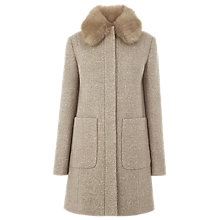Buy Warehouse Swing Faux Fur Collar Coat Online at johnlewis.com