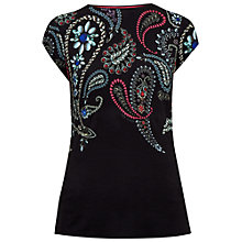 Buy Ted Baker Toyin Treasured Trinkets Fitted T-Shirt, Black Online at johnlewis.com