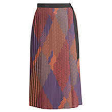 Buy Urban Touch Pleated Geometric Skirt, Multi Online at johnlewis.com