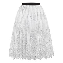 Buy Ted Baker Seeley Lace Full Embroidered Skirt, Ecru Online at johnlewis.com
