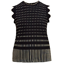 Buy Ted Baker Metallic Jacquard Top, Black Online at johnlewis.com