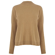 Buy Warehouse Cashmere Crew Neck Jumper, Camel Online at johnlewis.com