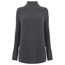 Buy Warehouse Patch Pocket Tunic Jumper, Dark Grey Online at johnlewis.com