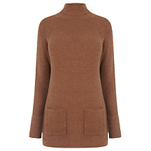 Buy Warehouse Patch Pocket Tunic Jumper, Dark Red Online at johnlewis.com