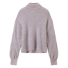 Buy Warehouse Blouson Sleeve Jumper, Light Purple Online at johnlewis.com