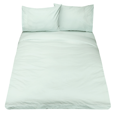 John Lewis Crisp & Fresh 400 Thread Count Egyptian Cotton Duvet Cover, Duck Egg