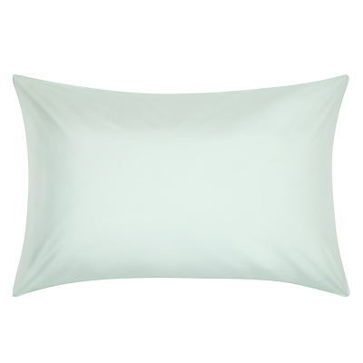 John Lewis Crisp & Fresh 400 Thread Count Egyptian Cotton King Size Pillowcase, Duck Egg