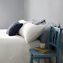 Buy John Lewis Croft Collection Bethany Duvet Cover and Pillowcase Set, White Online at johnlewis.com