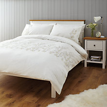 Buy John Lewis Country Floral Embroidery Duvet Cover and Pillowcase Set Online at johnlewis.com
