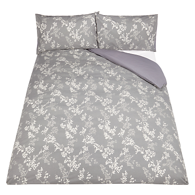 John Lewis Floral Jacquard Duvet Cover and Pillowcase Set