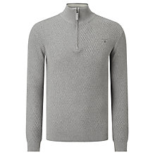 Buy Gant Texture Half Zip Jumper Online at johnlewis.com